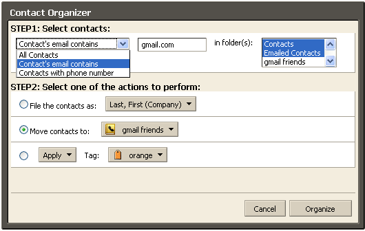 Contacts Organizer